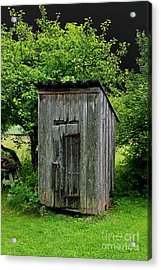 Old Outhouse Acrylic Print by Esko Lindell