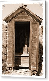 Old Outhouse In Bodie Ghost Town California Acrylic Print by George Oze