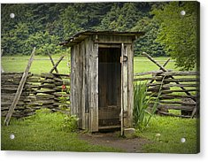 Old Outhouse On A Farm In The Smokey Mountains Acrylic Print