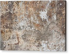 Old Painted Wall Acrylic Print by Elena Elisseeva