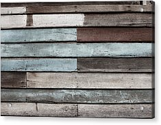 Old Pale Wood Wall Acrylic Print by Jingjits Photography