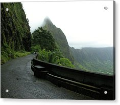 Acrylic Print featuring the photograph Old Pali Road, Oahu, Hawaii by Mark Czerniec