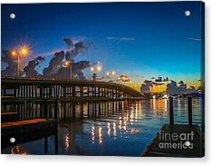 Old Palm City Bridge Acrylic Print