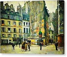 Old Paris Acrylic Print by Vincent Monozlay