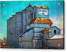 Old Paxico Kansas Grain Elevator Acrylic Print