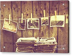 Old Photo Archive Acrylic Print