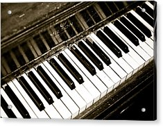 Old Piano Acrylic Print by Edward Myers