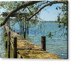 Acrylic Print featuring the photograph Old Pier On The Tred Avon by Charles Kraus