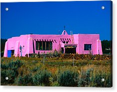 Old Pink Schoolhouse Gallery Tres Piedras Nm Acrylic Print by Troy Montemayor