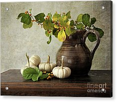 Old Pitcher With Gourds Acrylic Print