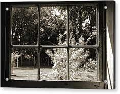 Acrylic Print featuring the photograph Old Pitted Glass Window 2 by Joanne Coyle