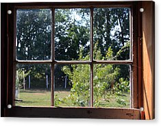 Acrylic Print featuring the photograph Old Pitted Glass Window by Joanne Coyle
