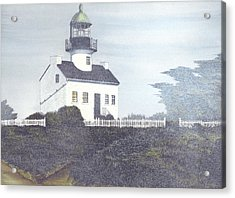 Old Point Loma Lighthouse Acrylic Print by James Lyman