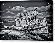 Old Point Reyes Black And White Acrylic Print