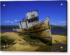 Old Point Reyes Boat Acrylic Print