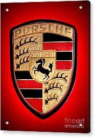 Old Porsche Badge Acrylic Print