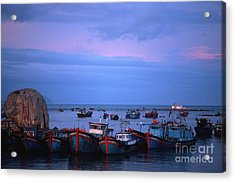 Acrylic Print featuring the photograph Old Port Of Nha Trang In Vietnam by Silva Wischeropp