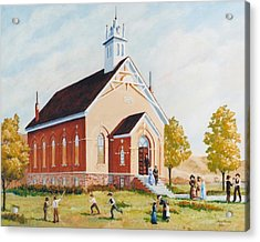Old Porterville Church Summer Acrylic Print by JoAnne Corpany