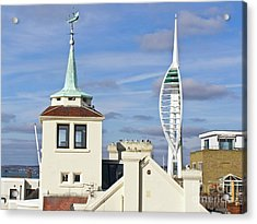 Old Portsmouth's Towers Acrylic Print by Terri Waters
