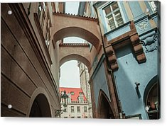 Acrylic Print featuring the photograph Old Prague Architecture 1 by Jenny Rainbow