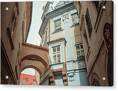 Acrylic Print featuring the photograph Old Prague Architecture by Jenny Rainbow