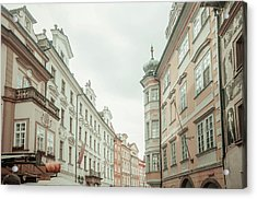 Acrylic Print featuring the photograph Old Prague Buildings. Staromestska Square by Jenny Rainbow