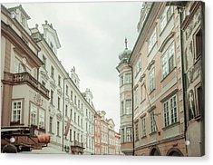 Old Prague Buildings. Staromestska Square Acrylic Print