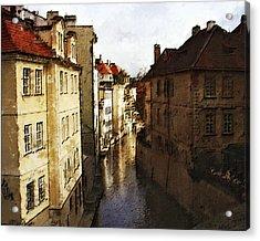 Old Prague Acrylic Print by Jo-Anne Gazo-McKim