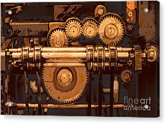 Old Printing Press Acrylic Print