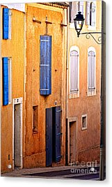 Acrylic Print featuring the photograph Old Provence Village Street by Olivier Le Queinec