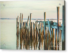 Old Provincetown Wharf Acrylic Print