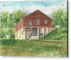 Old Pump House At The Mill Acrylic Print