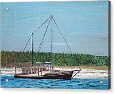 Old Pung In Maine Acrylic Print by Laurence Dahlmer