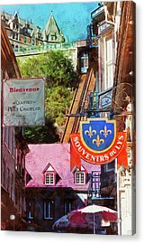 Old Quebec City Funicular Acrylic Print