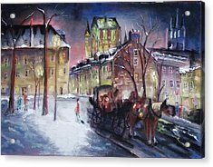 old Quebec Acrylic Print by Peter Suhocke