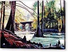 Old Railroad Bridge Acrylic Print