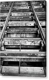 Old Rails At Mill City Museum Acrylic Print