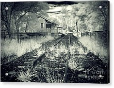Old Railway Station  Acrylic Print by Gwenda  Harvey