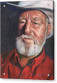 Old Ranger Acrylic Print