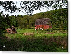 Old Red Barn 2 Acrylic Print