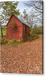 Old Red Barn Woodstock Vermont Acrylic Print by Edward Fielding