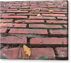 Old Red Brick Road Acrylic Print