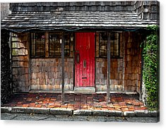 Old Red Door Acrylic Print by Christopher Holmes