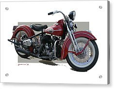 Old Red Harley Davidson Acrylic Print