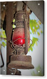 Old Red Lamp Acrylic Print