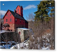 Acrylic Print featuring the photograph Old Red Mill - Jericho, Vt. by Joann Vitali