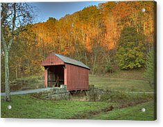 Old Red Or Walkersville Covered Bridge Acrylic Print