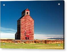 Old Red Acrylic Print by Todd Klassy