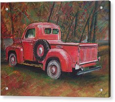 Old Red Acrylic Print by Victoria Heryet
