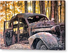 Old Relic In The Woods Acrylic Print